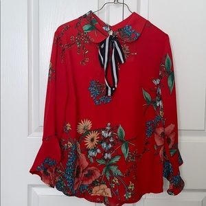 Olm brand red blouse